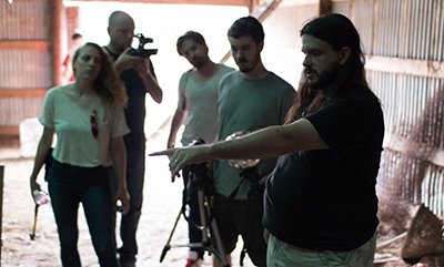 Writer-director Steven DeGennaro on the set of Found Footage 3D