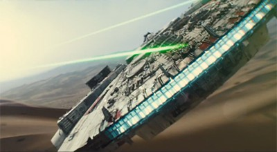 The iconic Millennium Falcon returned in the new Star Wars trailer