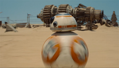 A new droid appears in the new Star Wars trailer