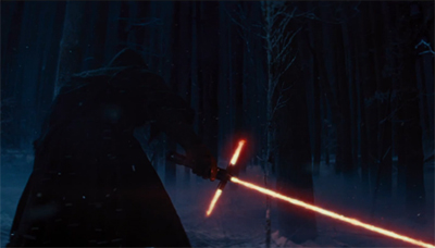 The Star Wars trailer has people talking about its new lightsaber design