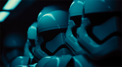 An army of stormtroopers takes centre stage in the Star Wars trailer