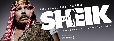 Poster for wrestling documentary The Sheik