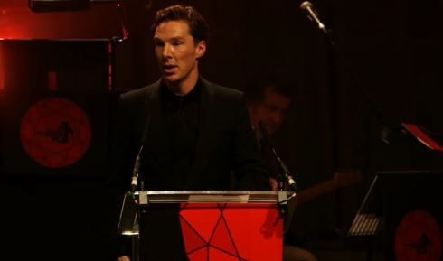 Benedict Cumberbatch accepts the Variety Award at the British Independent Film Awards 2014