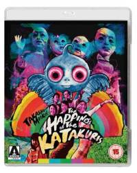 Cover art for the 2015 Arrow Films Blu-ray release of The Happiness of the Katakuris