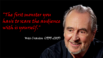 Horror icon Wes Craven died yesterday aged 76